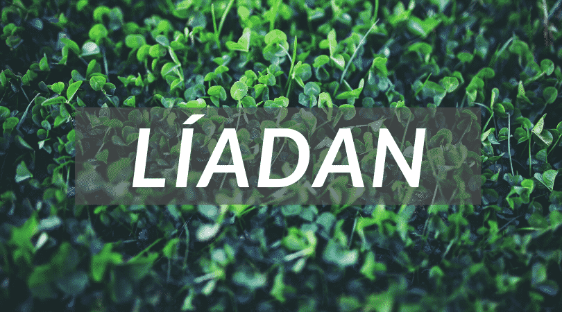 """Líadan is a great Irish mythological name meaning """"grey lady"""", as unusual as it is beautiful."""