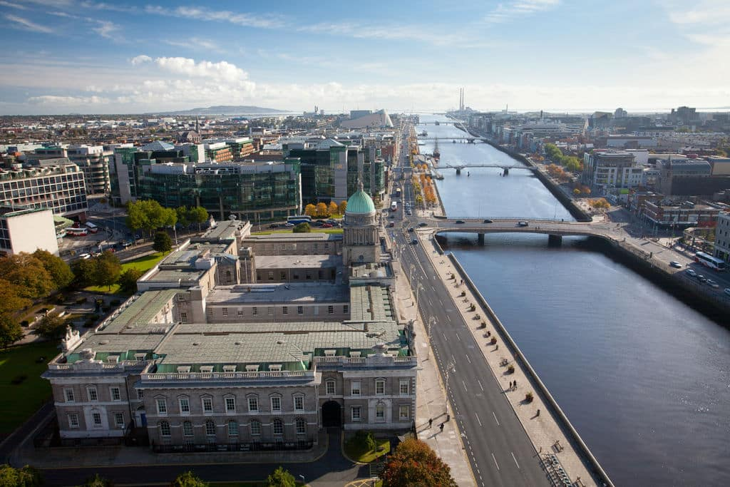 The River Liffey, one of the best walks in and around Dublin.