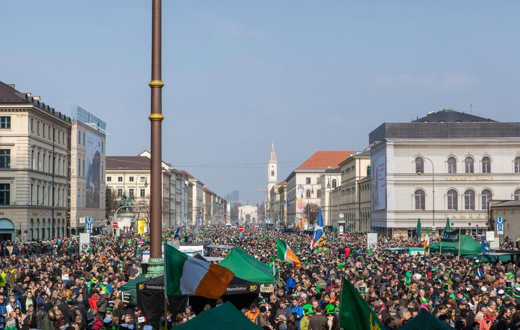 No St. Patrick's Day parade list would be complete without mentioning Munich, Germany.