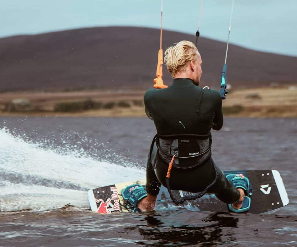 Kitesurfing is a great activity to try during summer in Dublin, a truly exciting activity.