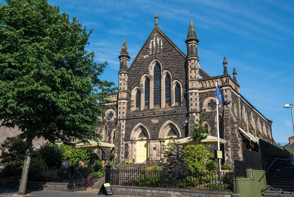 Saphyre restaurant is one of the best restaurants in south Belfast, and it;s in an old church making it even better.