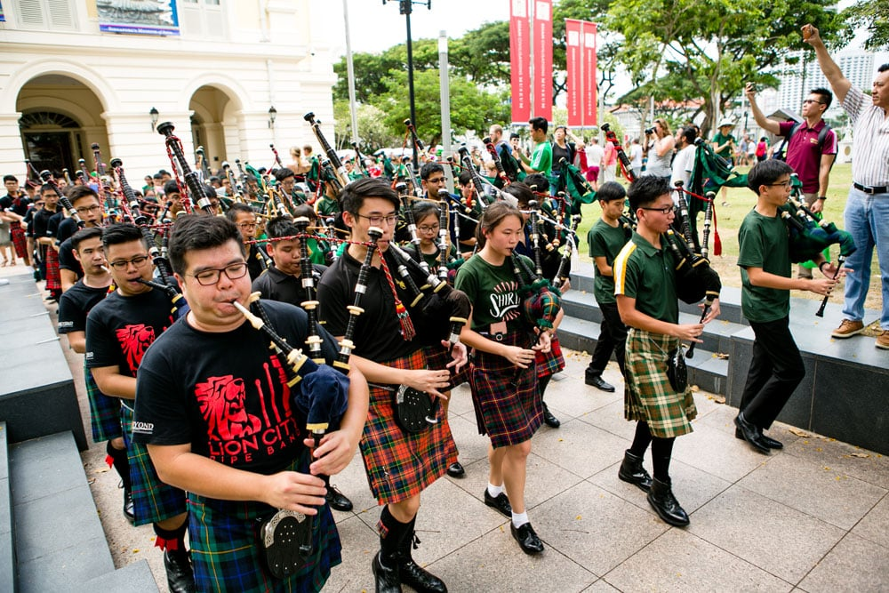 Singapore hosts one of the biggest St. Patrick's Day parades around the world.