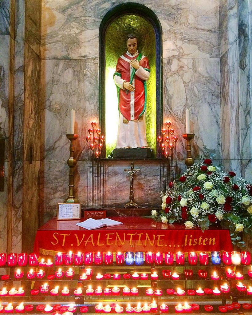 St. Valentine's heart is buried in Whitefriar Church in Dublin, a strange place and one of the most weird things to do in Dublin.
