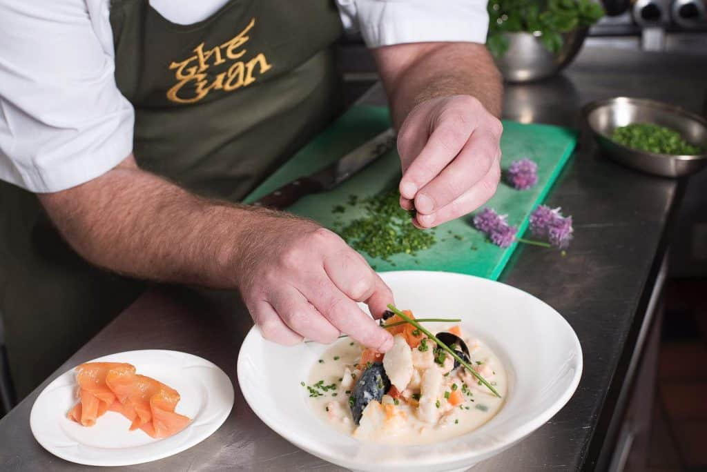 The Cuans restaurant is Strangford serves some of the best seafood in the entire country, food not to be missed.