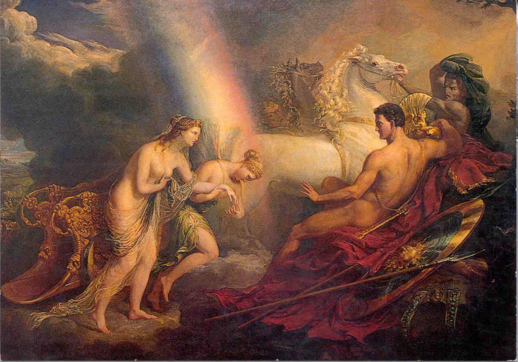 Irish was the goddess of rainbows in Greek mythology