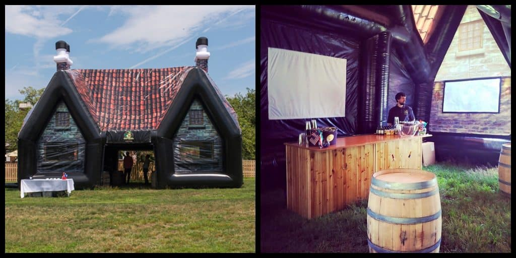 You can rent an inflatable Irish pub, and it's AMAZING