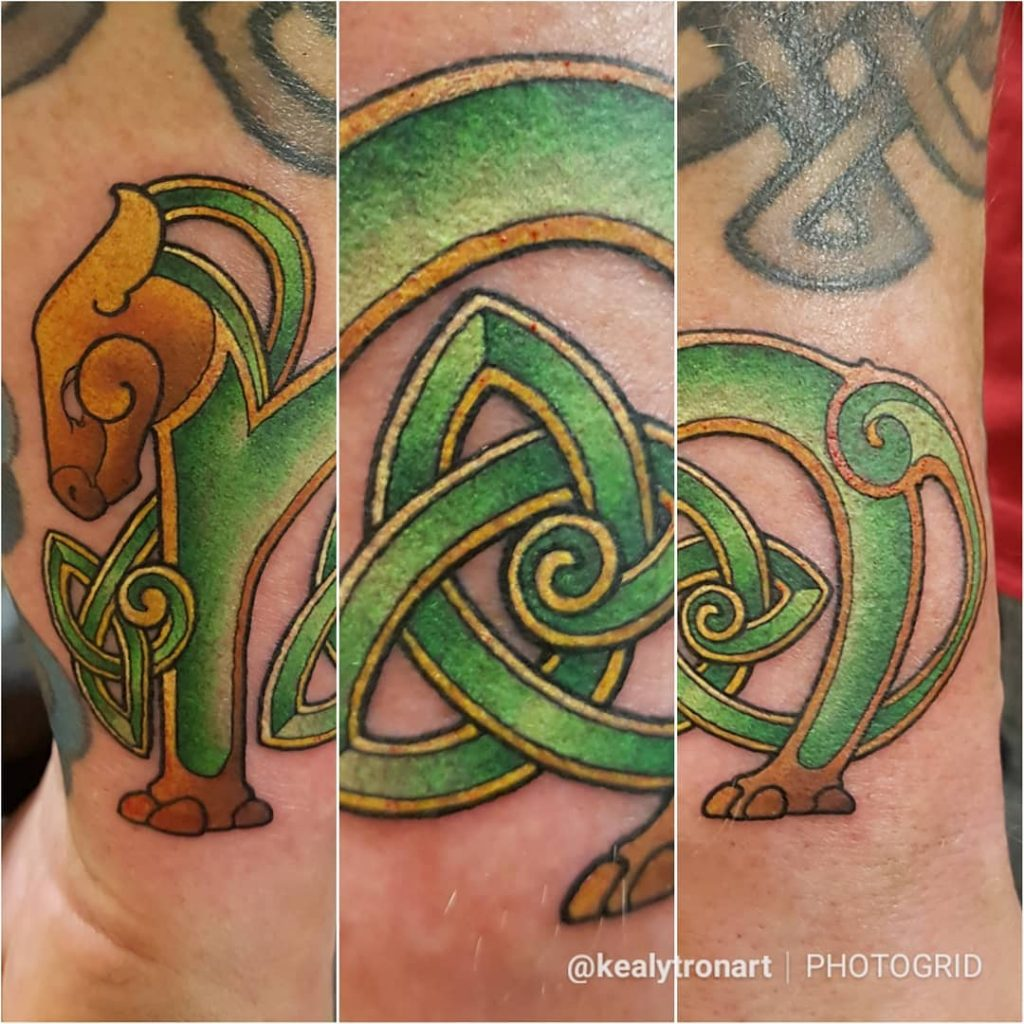 10 crazy cool Irish tattoos on Instagram include this one of Celtic griffin