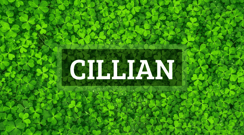 The Irish name Cillian is our name of the week