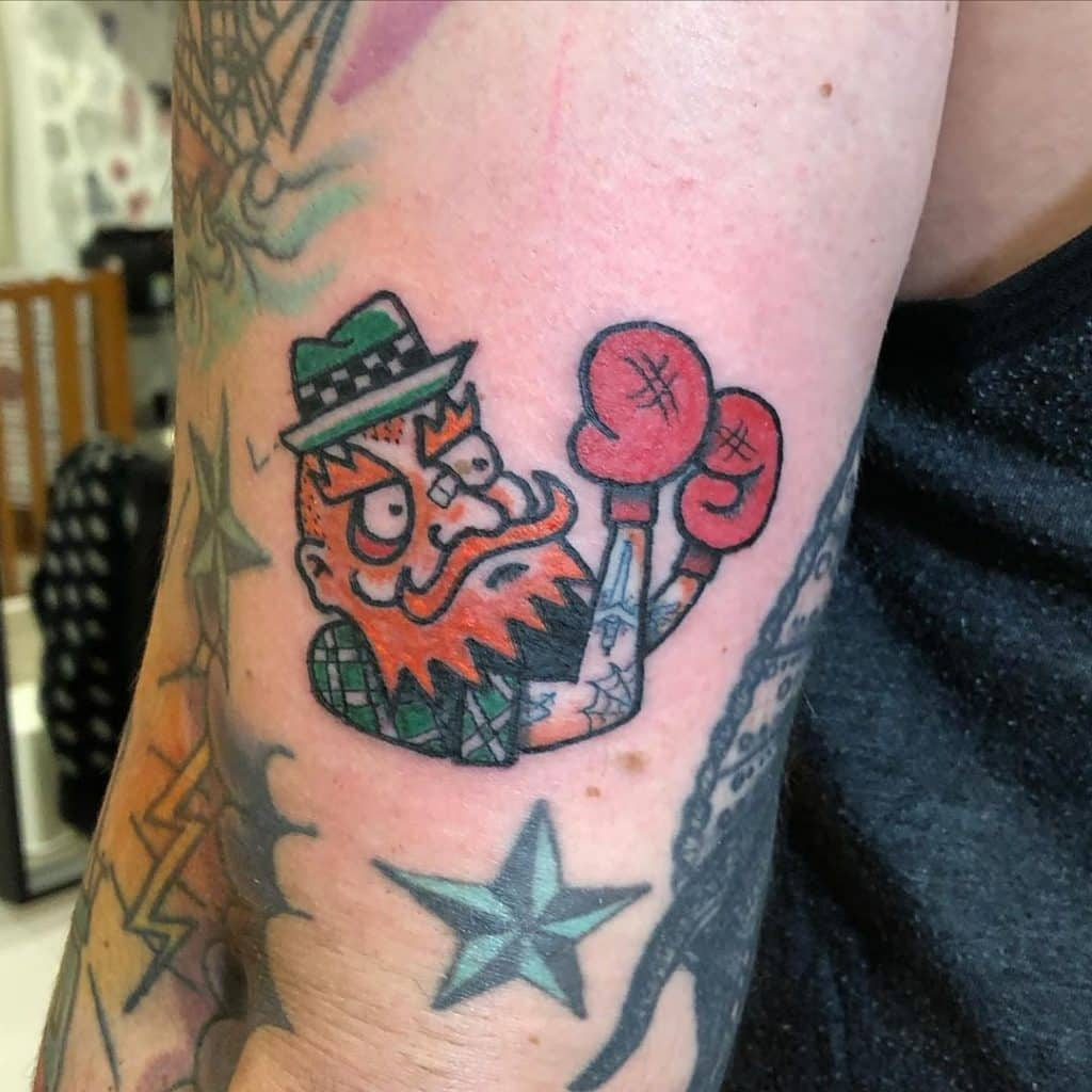 10 crazy cool Irish tattoos on Instagram include this one of an Irish boxer