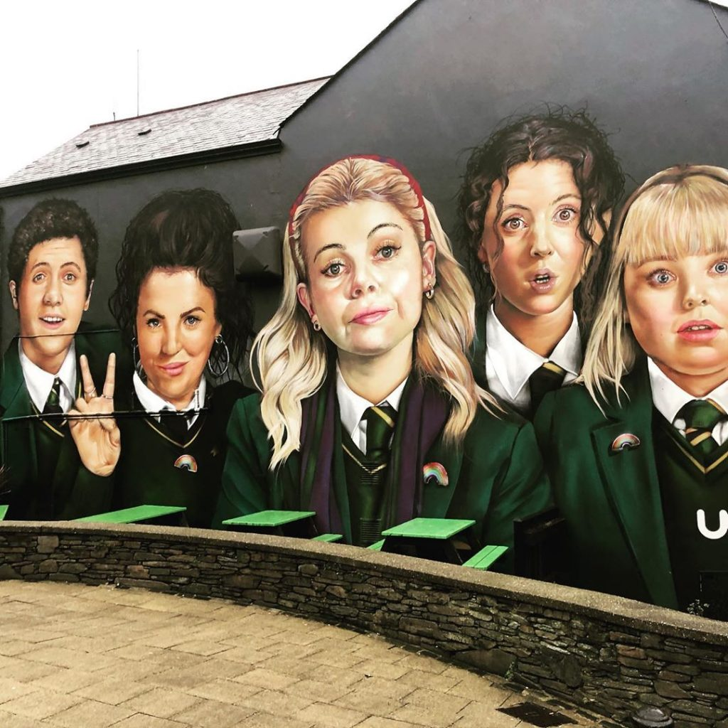 The Derry Girls have their own mural in Derry, a significant nod towards the city's future and changing times.