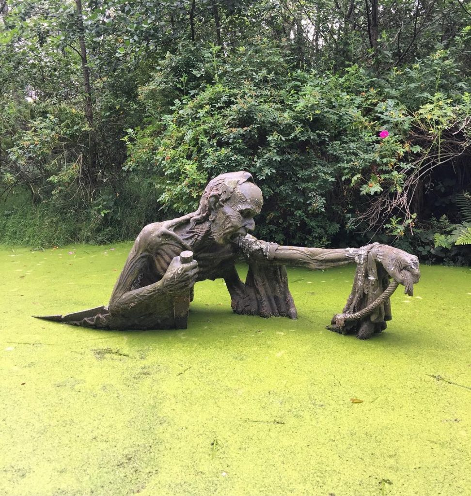 The Ferryman is one of the strangest statues in Ireland