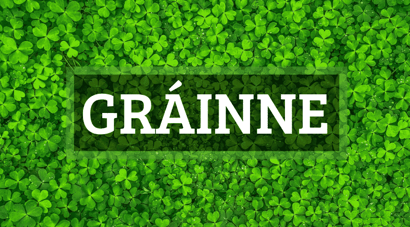 The Irish name Gráinne has a few different variants