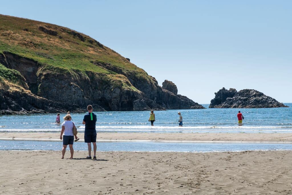 Our top pick for the best Copper Coast Road pit stops is Stradbally Cove, a beautiful beach with beautiful seas.