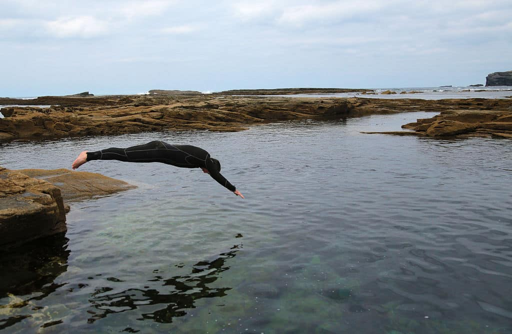 Pollock holes are natural swimming spots, a great place to take a refreshing dip!