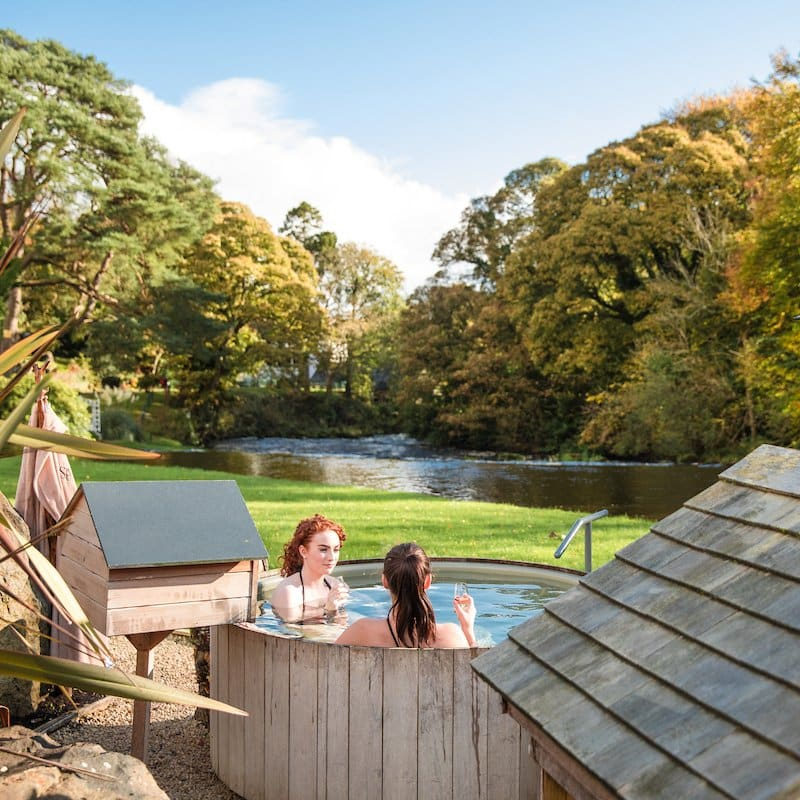 Hotel hot tubs with a view in Ireland include Galgorm Spa and Golf Resort