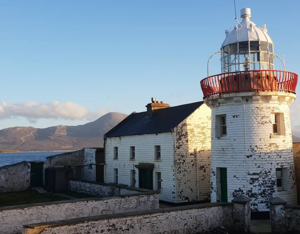 Inishgort's lighthouse is the only inhabited building on the entire island.