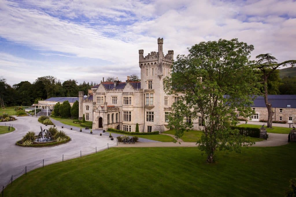 Another old castle, the Lough Eske Castle in Donegal is filled with opulent rooms and canopy beds.