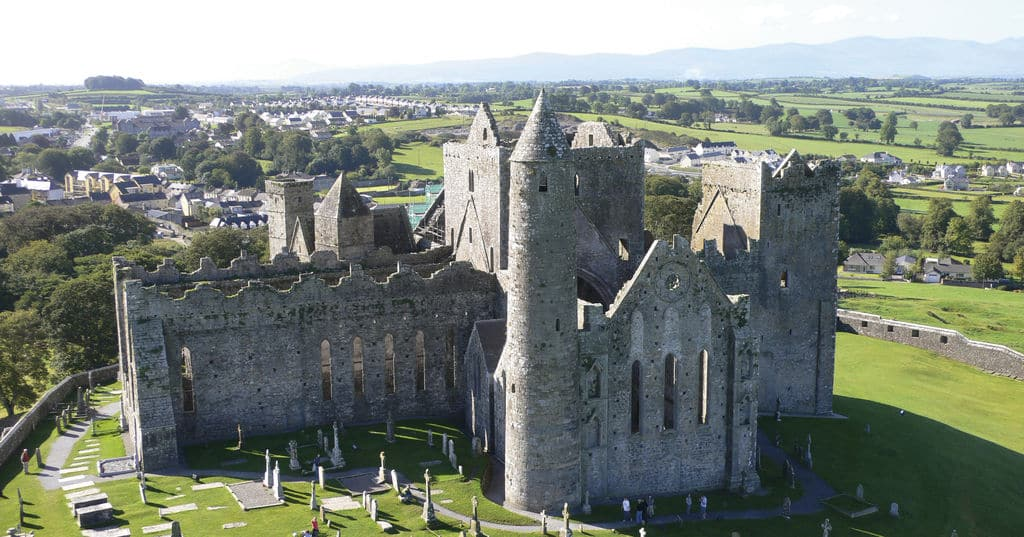 One of the top facts about the Rock of Cashel is that the largest remaining building is St. Patrick's Cathedral.