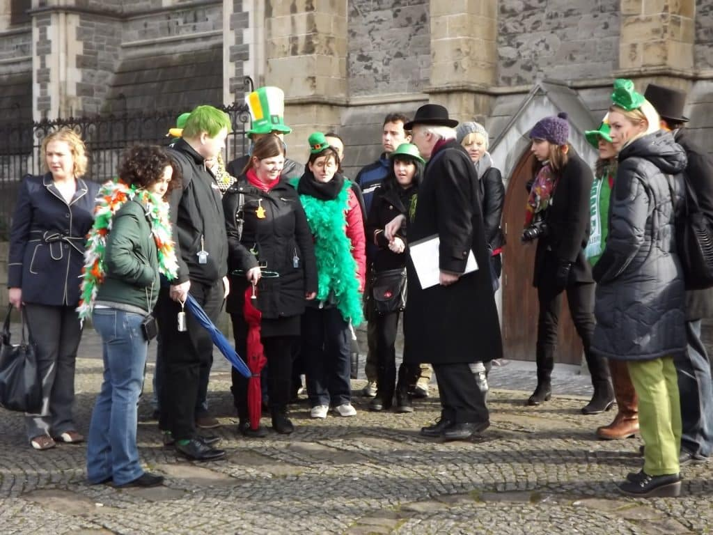 Events on St. Patrick's Day in Dublin include a tour with historian Pat Liddy
