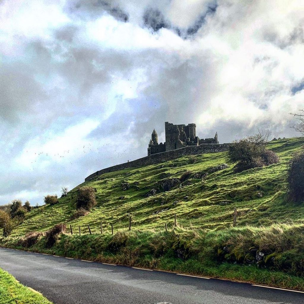 The Rock of Cashel rises 200 feet into the air.