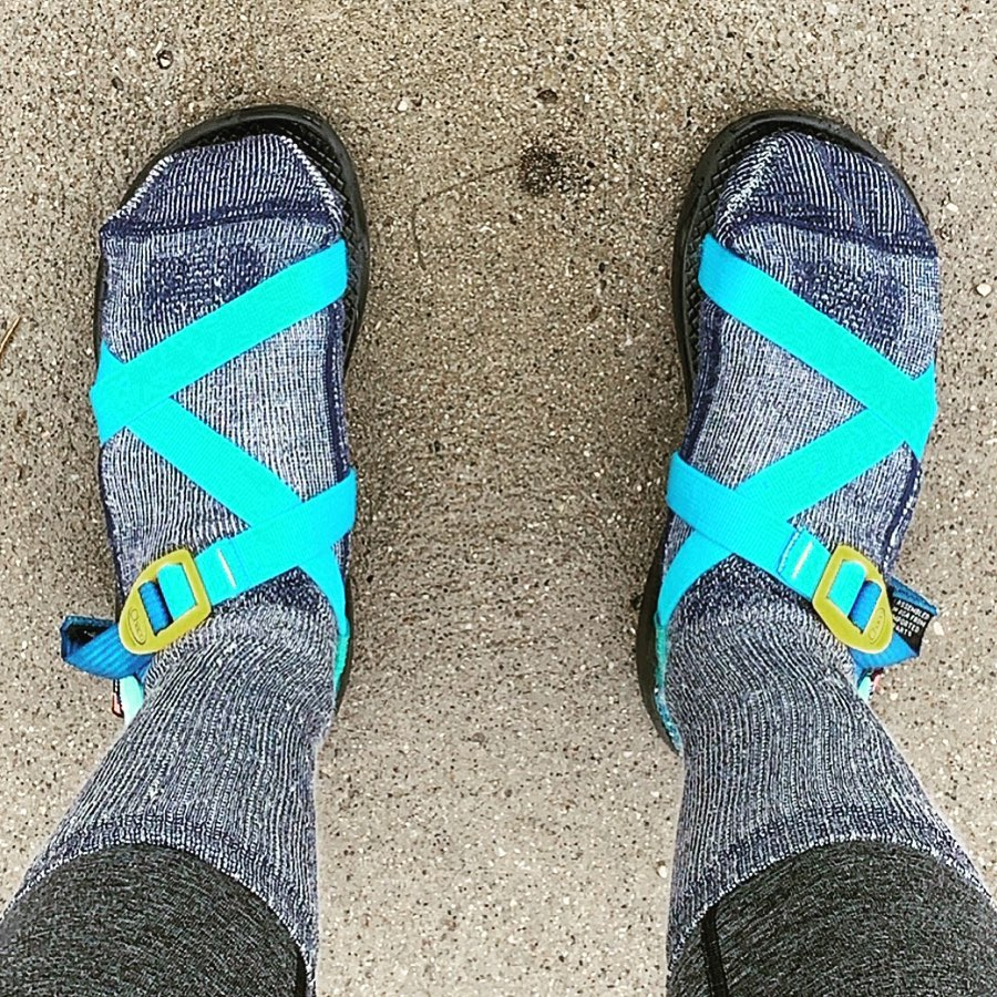 You won't see many people wearing socks with sandals in Ireland