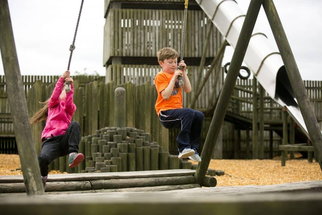 One of the top fun parks in Ireland is Fort Lucan Outdoor Adventureland.