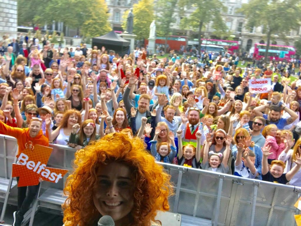 NI only has 9% of redheads, one of the top facts about Northern Ireland.