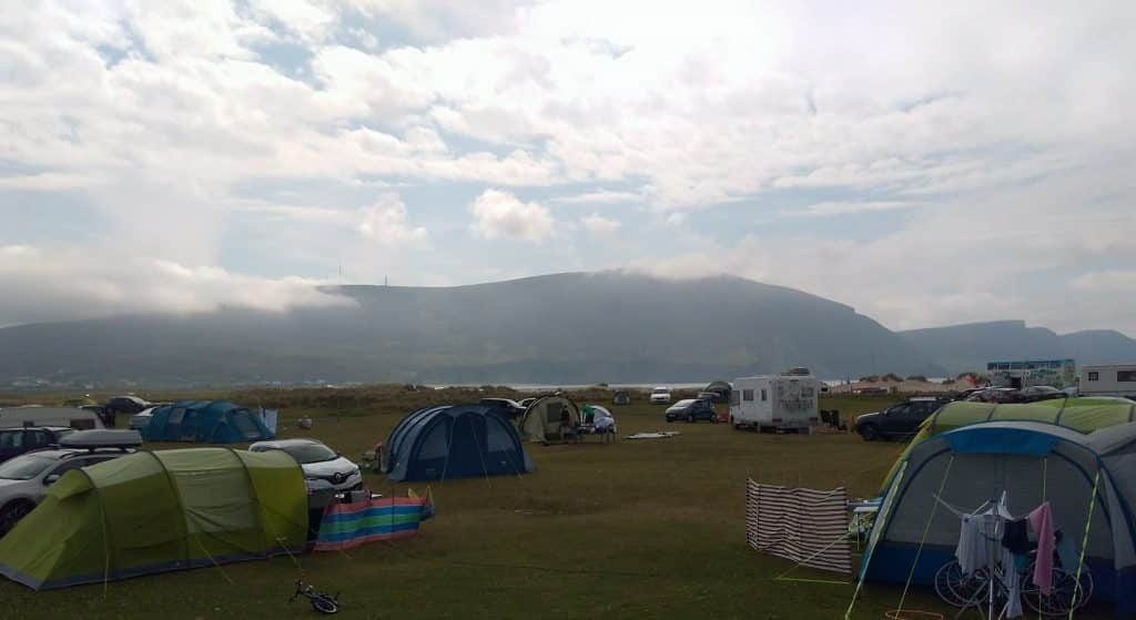 Another of the best things to do on Achill Island is Keel Sandybanks Caravan and Camping Park.