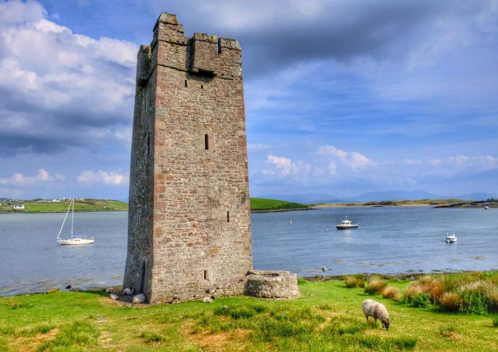 Another of the top places to see is Kildavnet Castle, another of the best things to do on Achill Island.