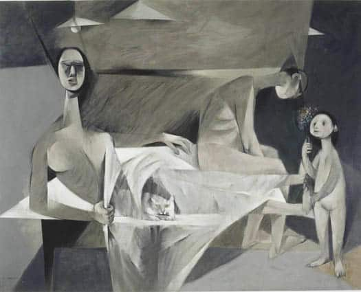 Known for Cubist figures, Louis le Brocquy is another of the most famous Irish artists.