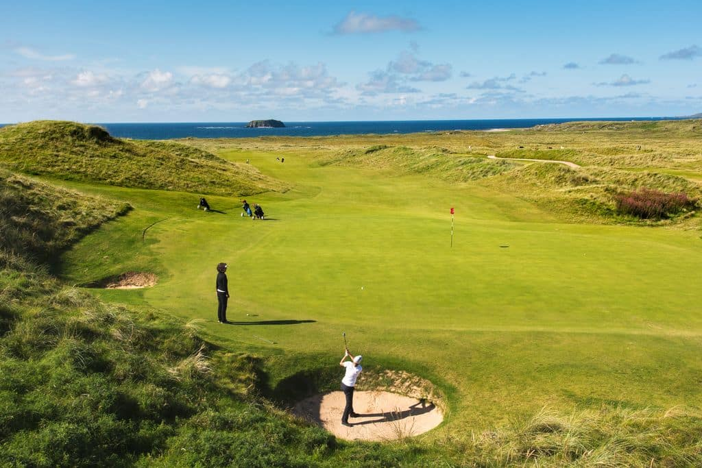 Ballyliffin course in Donegal is another of our top picks, located next to the ocean.