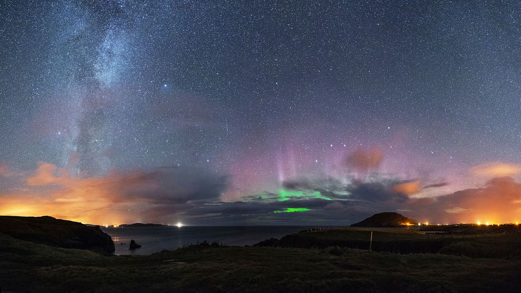 For catching the northern lights in Ireland there needs to be good weather.