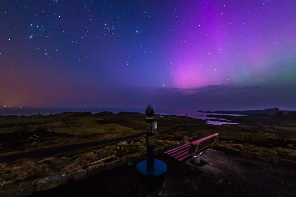 The northern lights are made up of electrically charged particles entering the earth's atmosphere.