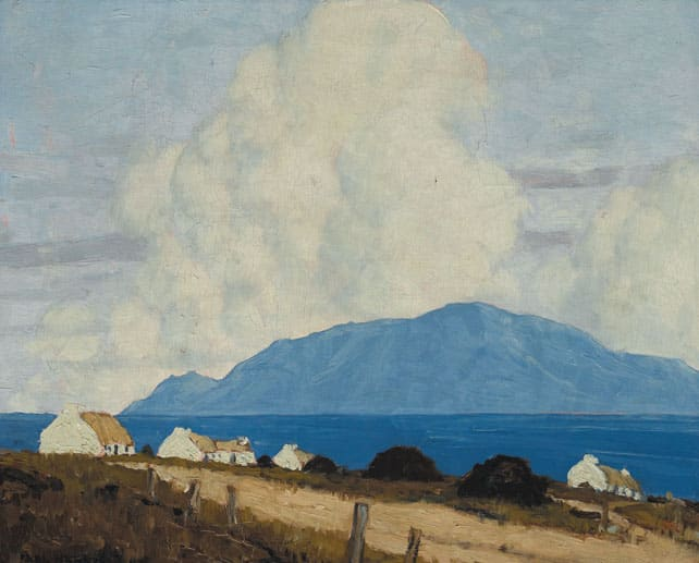 The artists Paul Henry is known for his beautiful landscape painting.
