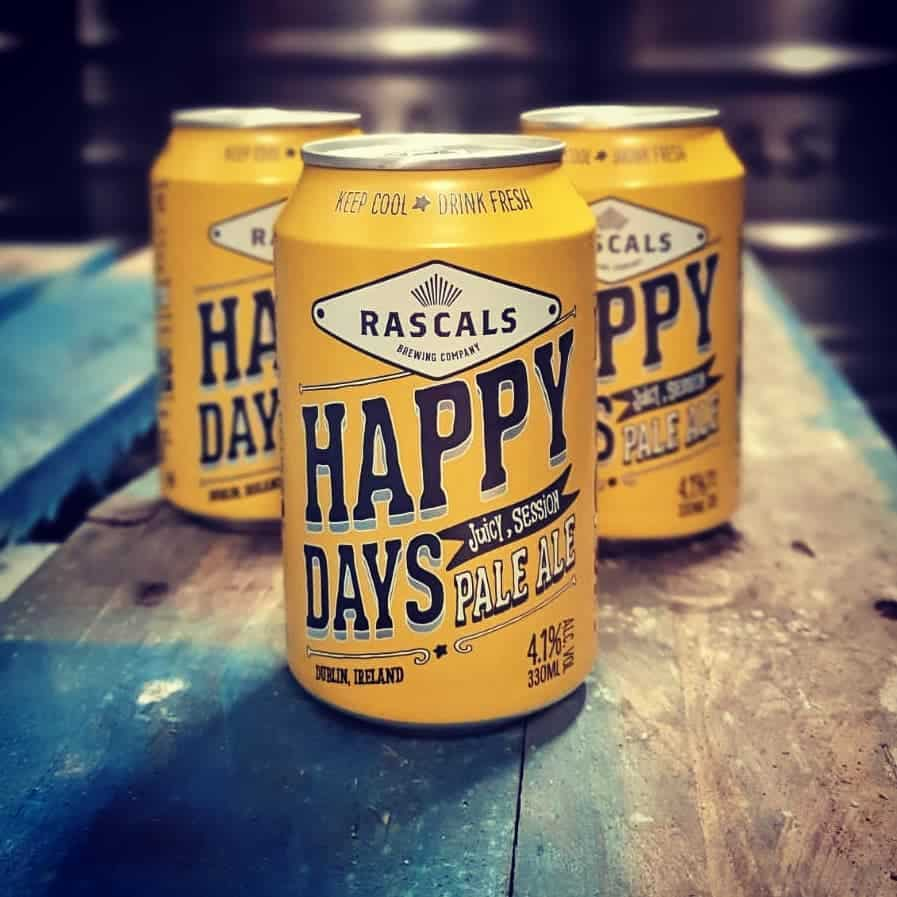 Looking another of the best Irish beers, try Rascals Happy Days IPA.