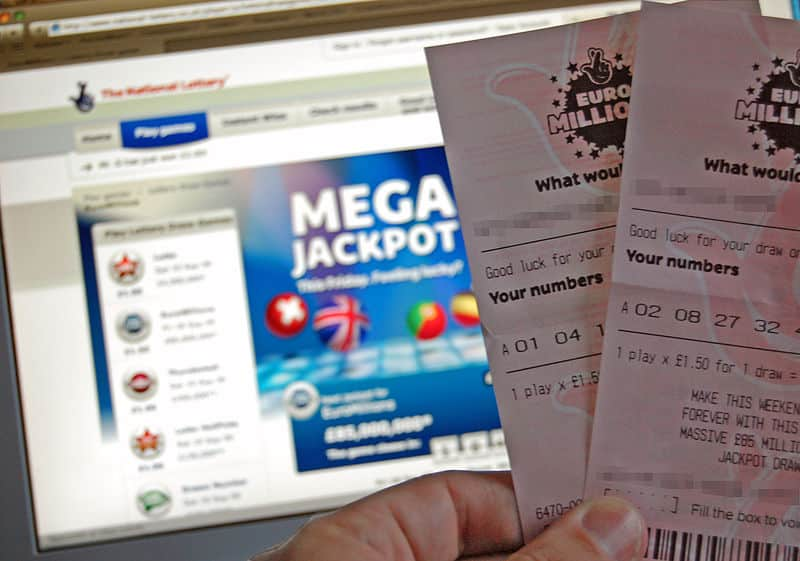 The Euromillions lottery held across Europe.