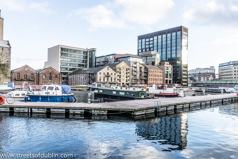 The Grand Canal Docks, the conclusion of one of the best walks in and around Dublin.