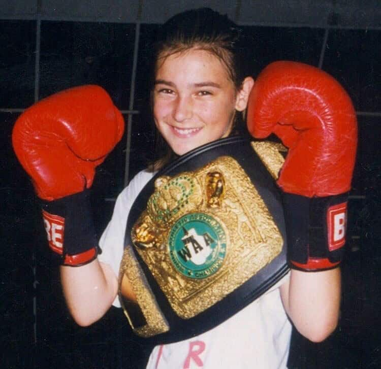 Katie had a very active childhood in regards to boxing.
