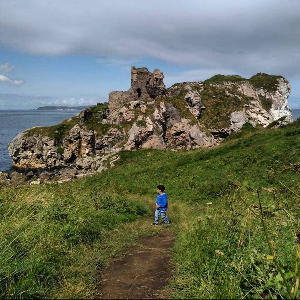 Kinbane Castle is another of the top Belfast to the Giant's Causeway stops along the way.