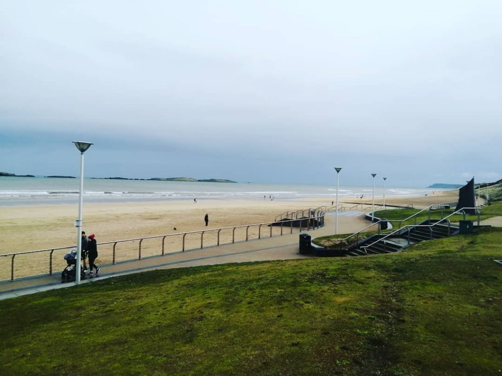 Portrush Beach in Antrim, where one of the best parkruns in Ireland takes place.