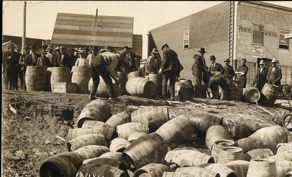 Wondering how prohibition in the USA affected Ireland, Irish whiskey sales fell apart.