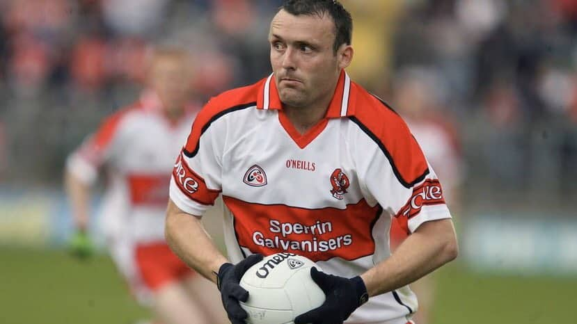 Paddy Bradley, one of the best footballers to emerge from Derry.