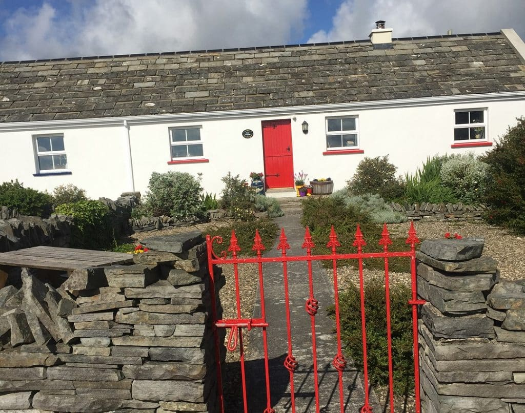 The Red Stonecutters Cottage, Co. Clare – quiet and rural coastal cottage.