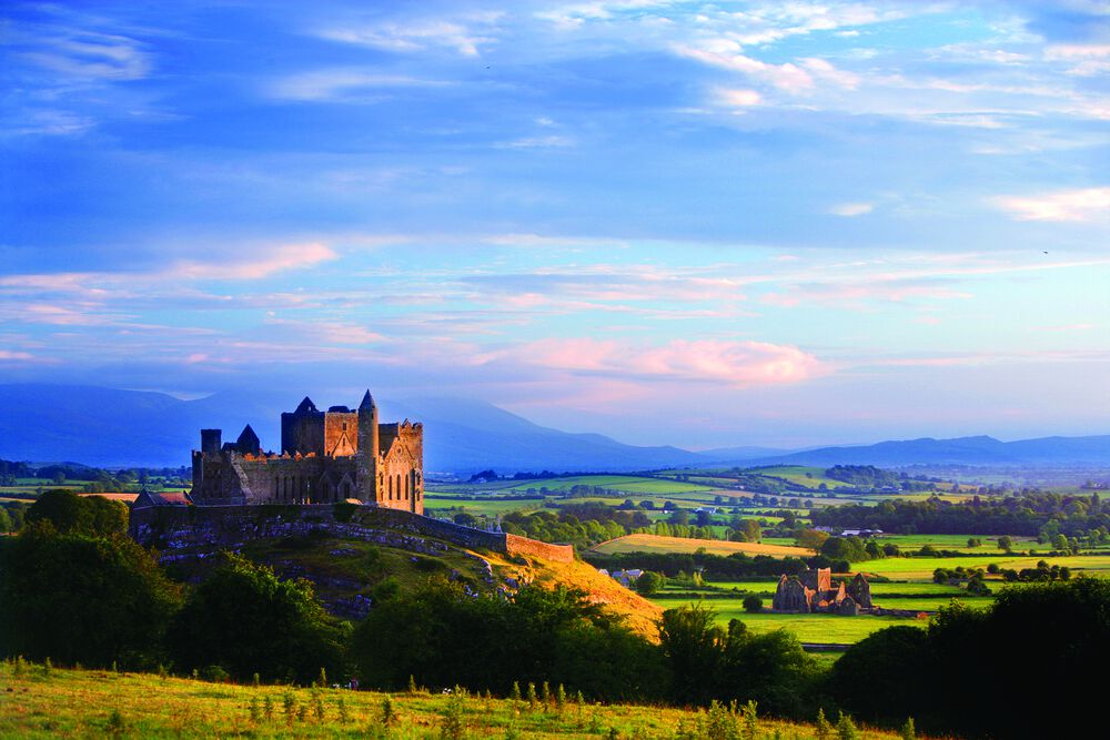 The Rock of Cashel is one of the most important historical heritage sites in Ireland.