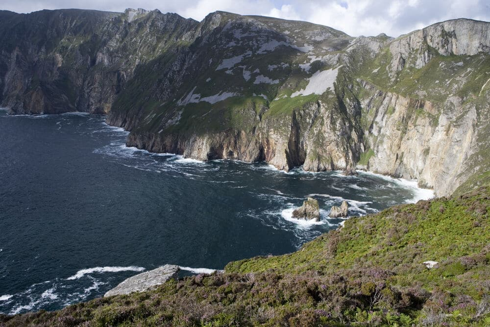 The Slieve League cliffs in Donegal is a stunning leg of the Wild Atlantic Way drive.