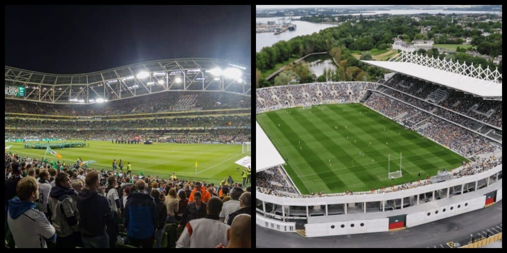 Top 20 Stadiums in Ireland by Capacity