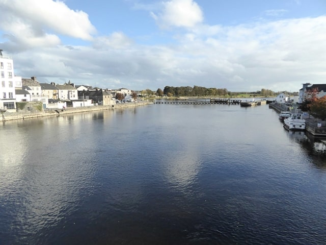 The River Shannon at Athlone Town, where the Viking Tour takes place;