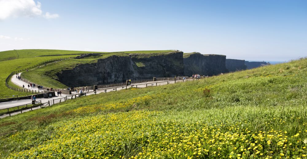 Cliffs of Moher (Co. Clare) – the most popular trail on the Emerald Isle