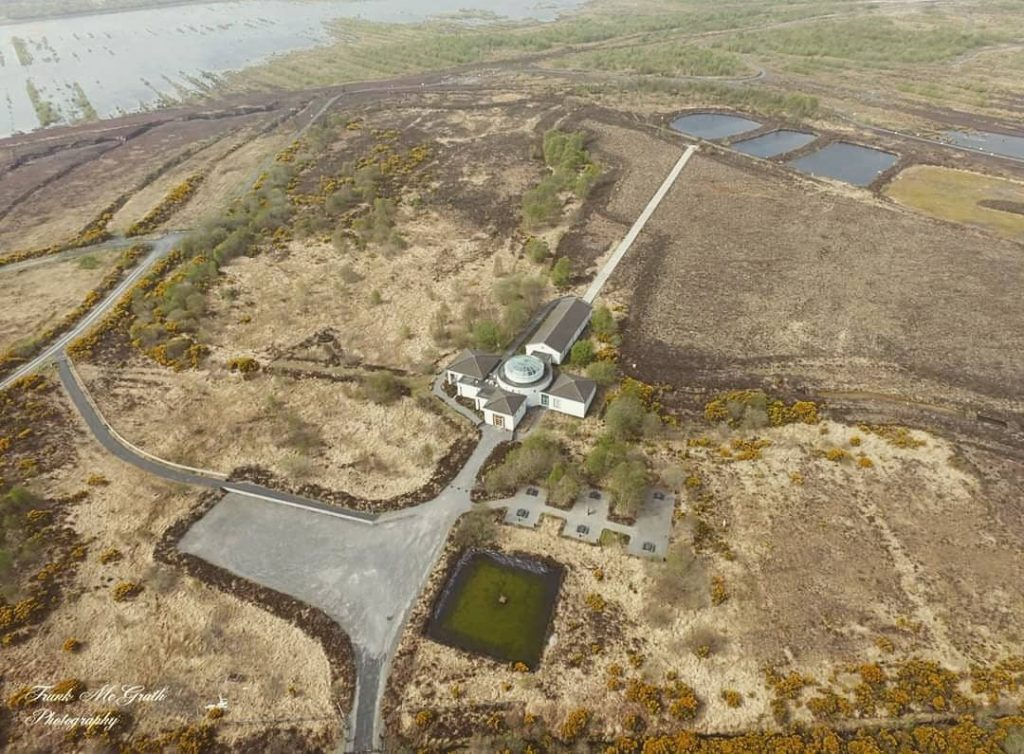 An aerial view of the Corlea Trackway in Longford, one of the best historic places in Ireland.