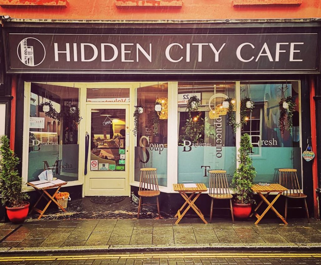 The Hidden City Cafe in Derry City, Co. Derry.